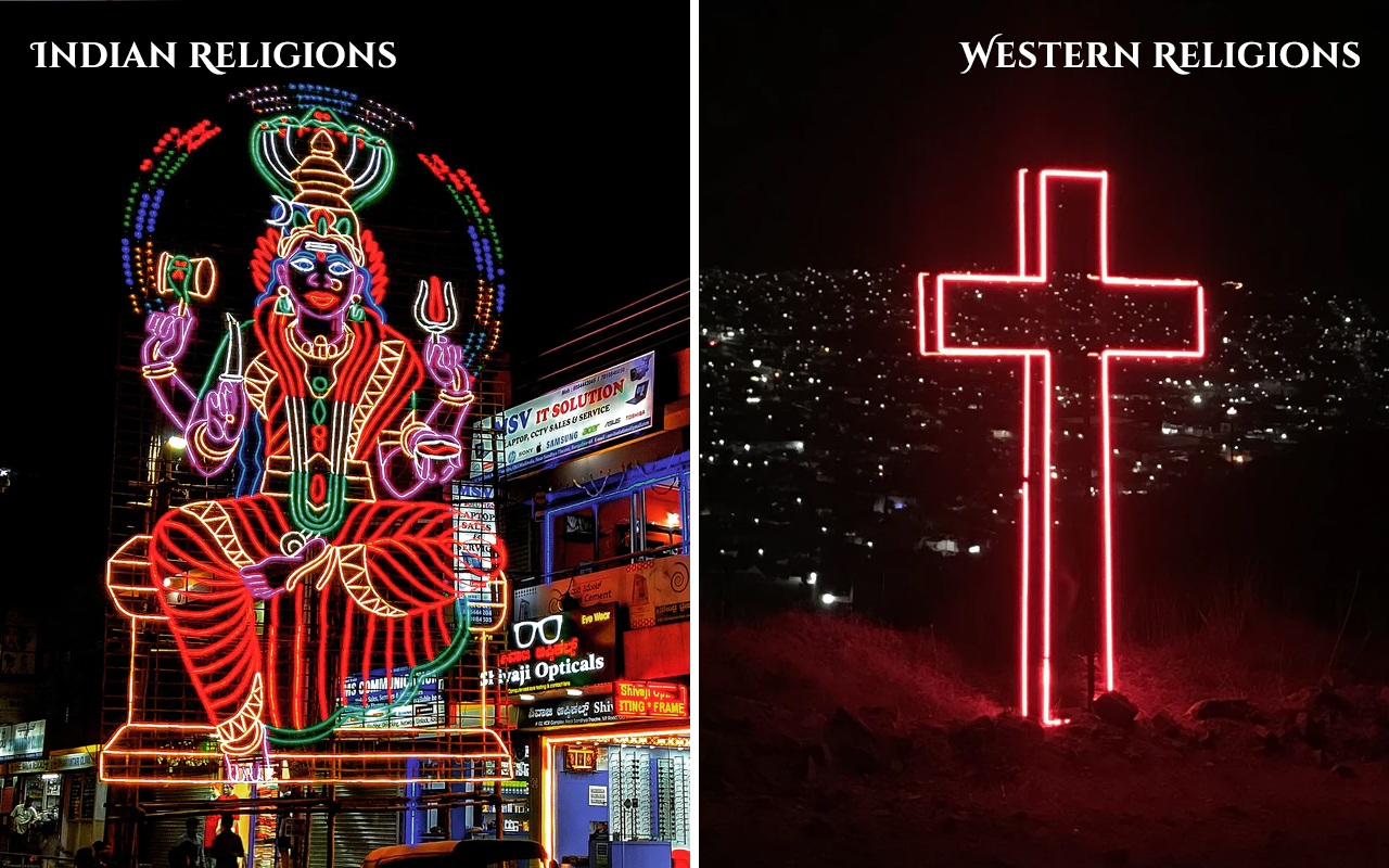 Indian-Culture-vs-Western-Culture-Religions