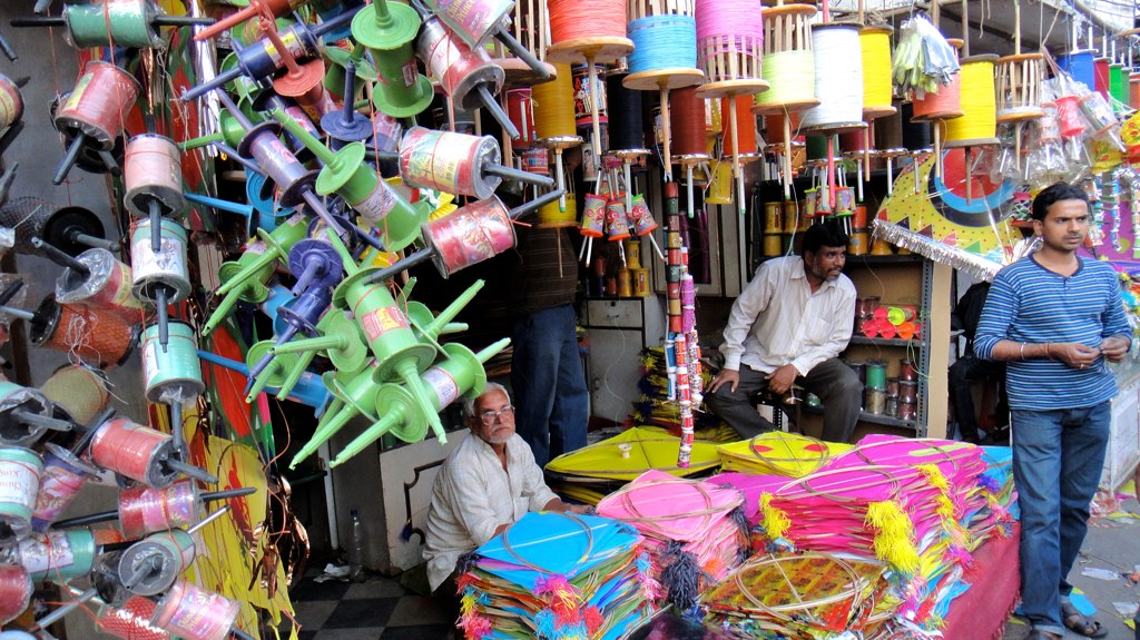 Kite Festivals in India Patang Bazar