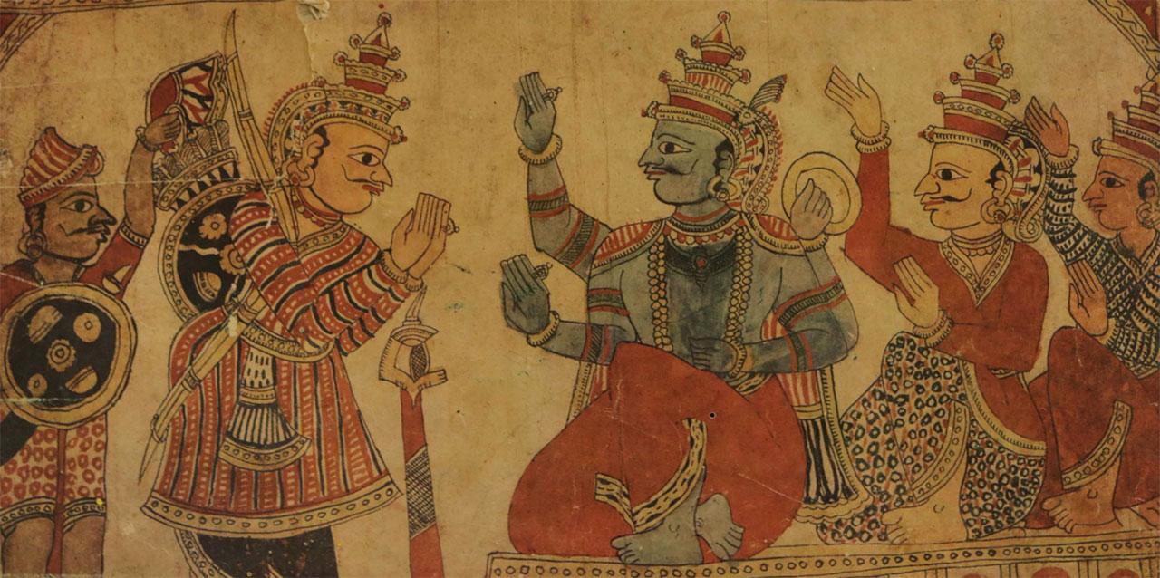 Chitrakathi-Painting-of-Karnataka-01